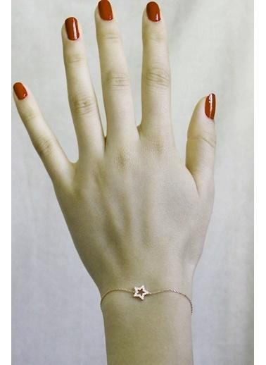 Argentum Concept Zirkon Taşlı Gümüş Yıldız Bileklik - B051701 Pembe